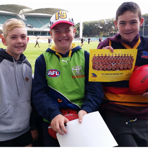 Ethan, Max & Liam at Crows Training July 2017